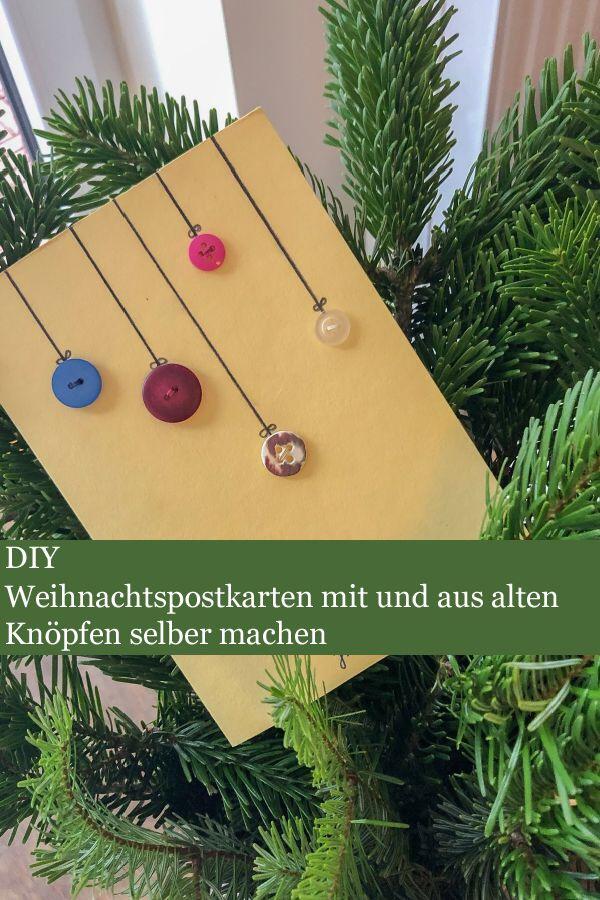 Weihnachtskarten Mit Knöpfen.Diy Weihnachtskarten Aus Alten Knöpfen
